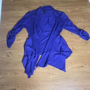 Willi Smith Purple Cardigan Size Medium